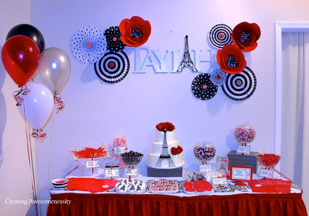 Parisian Inspired Dessert Table