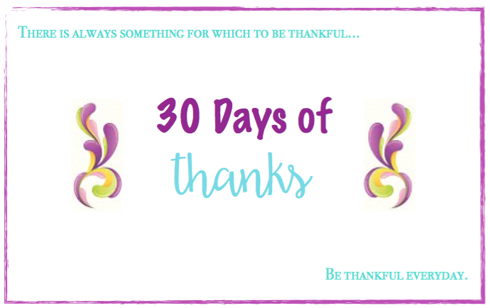 30 Days to Be Sincerely Thankful