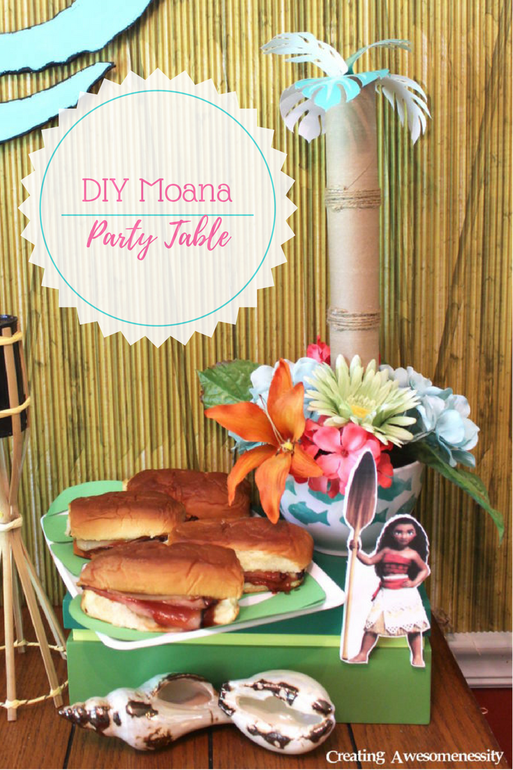 This easy diy moana party is sure to make waves for Another word for food decoration
