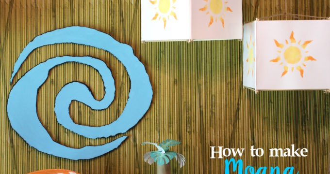 How to Make An Easy Moana-Inspired Sun Lantern